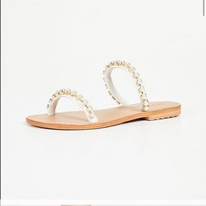 Mystique two strap pearl flat sandals
